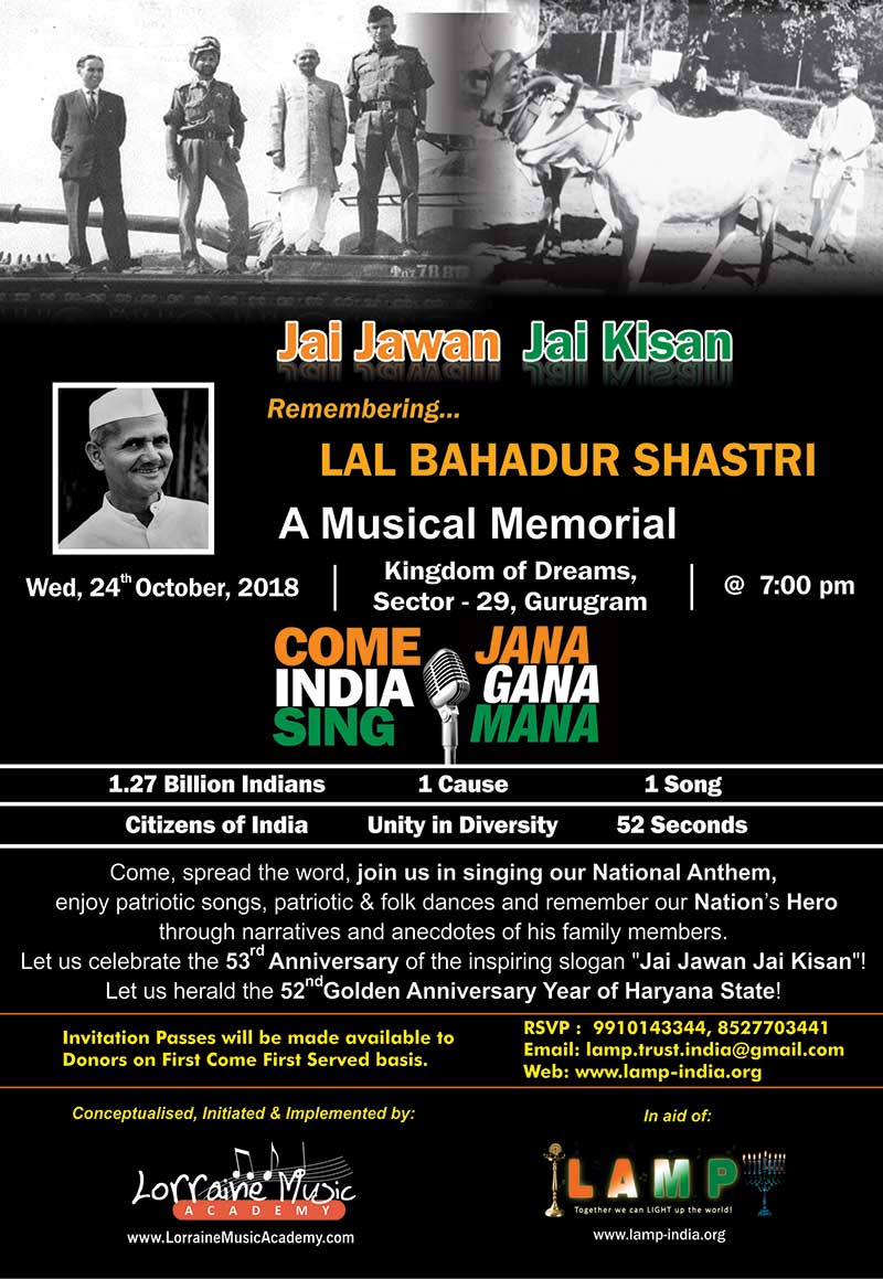 Remembering LAL BAHADUR SHASTRI 24 OCT 2018 Event