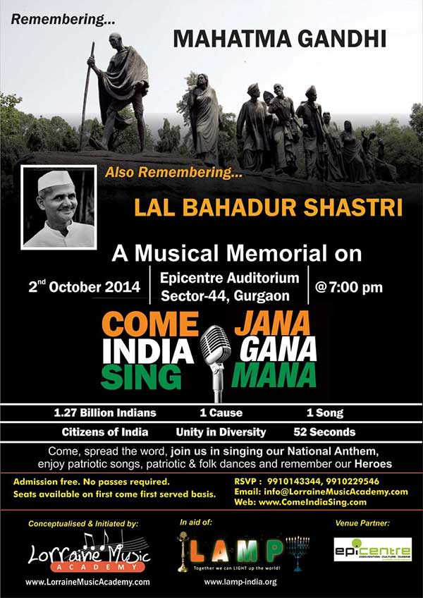 Gandhi and Shastri Jayanti 02 oct 2014